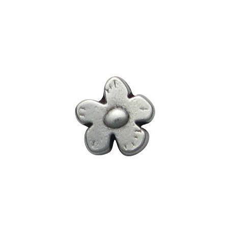 Μεταλλική Ζάμακ Χυτή Χάντρα Λουλούδι 12mm (Ø2.5mm)