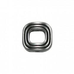 Μεταλλική Ζάμακ Χυτή Χάντρα Κρίκος Τετράγωνος 13mm (Ø1.5mm)