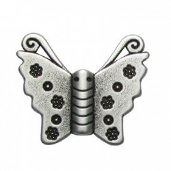 Passant Papillon en Métal/Zamac, 30x25mm (Ø 2.2mm)