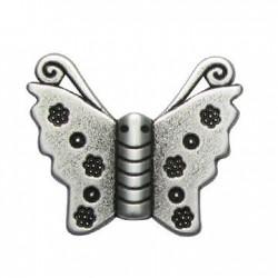 Zamak Slider Butterfly 30x25mm (Ø 2.2mm)