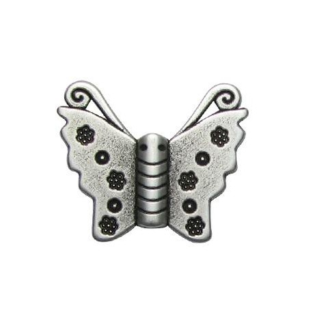 Μεταλλικό Ζάμακ Στοιχείο Πεταλούδα Περαστό 30x25mm (Ø2.2mm)