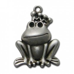 Zamak Pendant Frog King 24x35mm