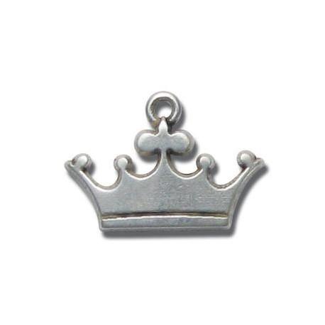 Zamak Charm Crown 20x15mm