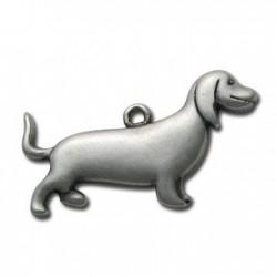 Μεταλλικό Ζάμακ Χυτό Μοτίφ Σκύλος 40x22mm