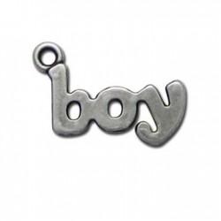 Charm in Zama scritta BOY 14x25mm