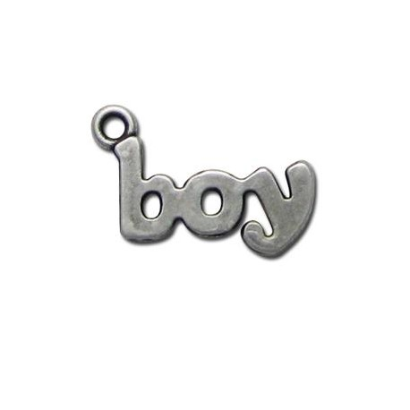 Zamak Charm Word Boy 14x25mm