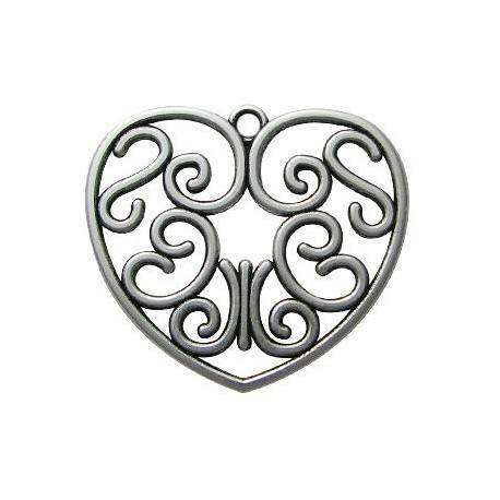 Μεταλλικό Ζάμακ Χυτό Μοτίφ Καρδιά 55mm