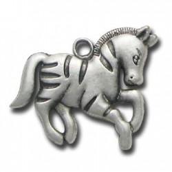 Μεταλλικό Ζάμακ Χυτό Μοτίφ Άλογο 30x26mm