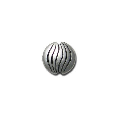 Μεταλλική Ζάμακ Χυτή Χάντρα Μπίλια Επίπεδη 12mm