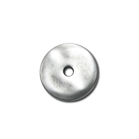 Μεταλλική Ζάμακ Χυτή Χάντρα Δίσκος 25mm (Ø3.6mm)