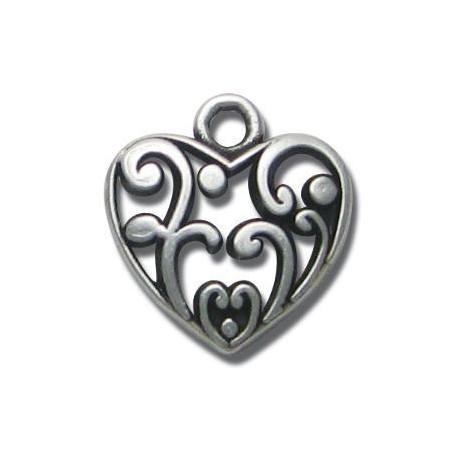 Μεταλλικό Ζάμακ Χυτό Μοτίφ Καρδιά 18mm