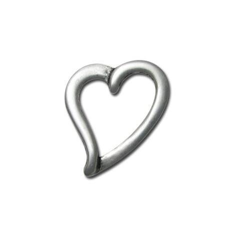 Μεταλλικό Ζάμακ Χυτό Μοτίφ Καρδιά 34x42mm
