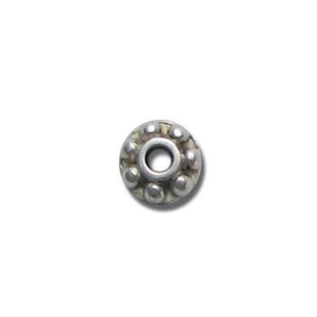 Μεταλλική Ζάμακ Χυτή Χάντρα Ροδέλα 7mm