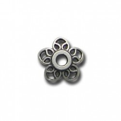 Zamak Bead Cap Flower Filigree 11mm