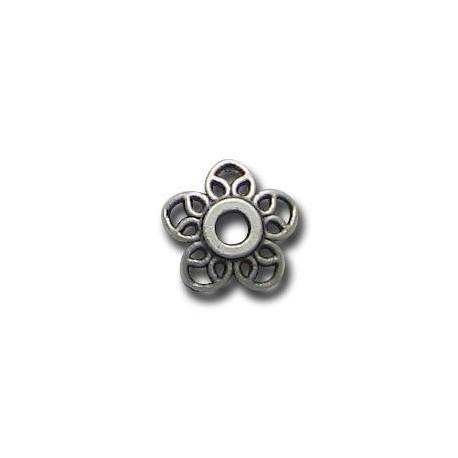 Μεταλλική Ζάμακ Χυτή Χάντρα Καπελάκι 11mm