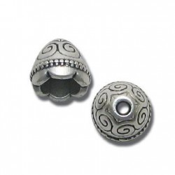Zamak Bead Cap 9x11mm