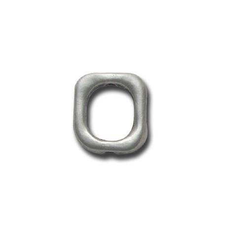 Μεταλλική Ζάμακ Χυτή Χάντρα Κρίκος Τετράγωνος 14x16mm