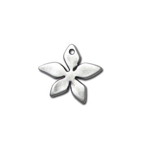 Μεταλλικό Ζάμακ Χυτό Μοτίφ Λουλούδι 22x25mm
