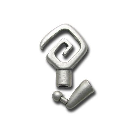 Zamak Clasp Coil Square (Ø 4.1mm)