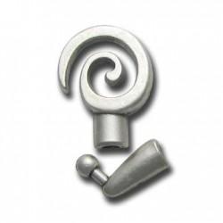 Fermoir Spirale en Métal/Zamac, 4mm