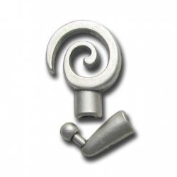 Zamak Clasp Coil Round (Ø 4.1mm)