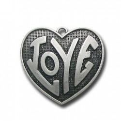Zamak Pendant Heart Love 35x35mm