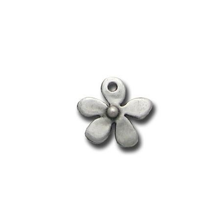 Zamak Charm Flower 13mm