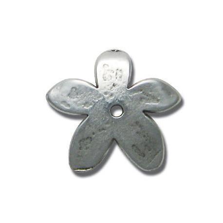 Μεταλλική Ζάμακ Χυτή Χάντρα Λουλούδι Περαστό 30mm
