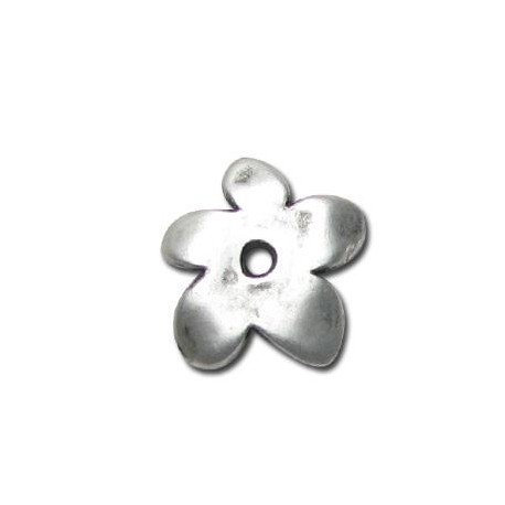 Μεταλλική Ζάμακ Χυτή Χάντρα Λουλούδι Περαστό 18x19mm