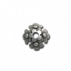 Coupelle Fleur en Métal/Zamac, 12mm