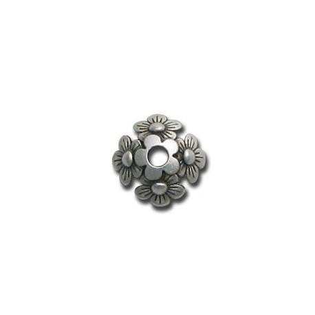 Zamak Bead Cap Flower 12mm