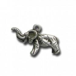 Zamak Charm Elephant 20x15mm
