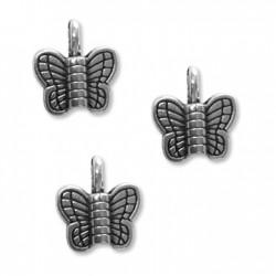 Zamak Charm Butterfly 11x12mm
