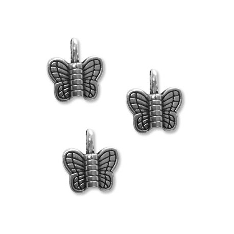 Zamak Charm Butterfly 11x12mm