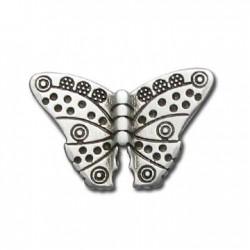 Passant Papillon en Métal/Zamac, 11x12mm