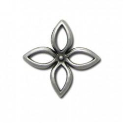 Μεταλλικό Ζάμακ Χυτό Μοτίφ Λουλούδι 24mm