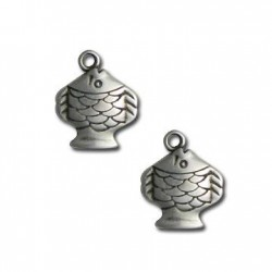 Zamak Charm Fish 15x19mm
