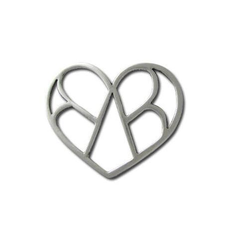 Μεταλλικό Ζάμακ Χυτό Μοτίφ Καρδιά 65x45mm