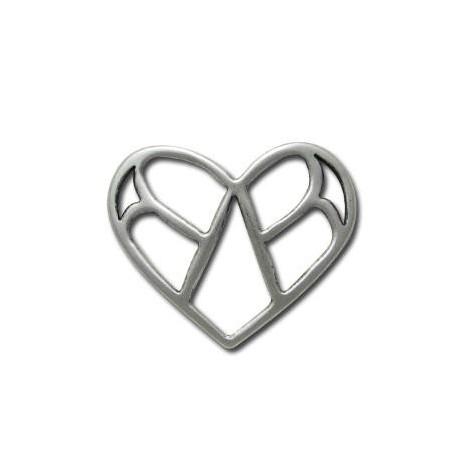 Μεταλλικό Ζάμακ Χυτό Μοτίφ Καρδιά 48x40mm