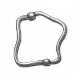 Zamak Slider Irregular Ring 44x40mm