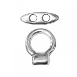 Μεταλλικό Ζάμακ Χυτό Κούμπωμα Στρογγυλό Σετ (Ø 10x2.5mm)