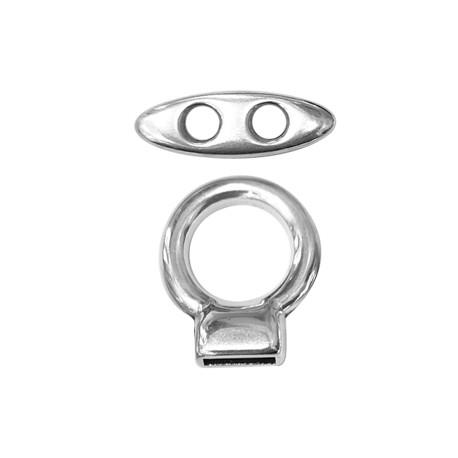 Zamak T-Clasp Round (Ø 10x2.5mm)