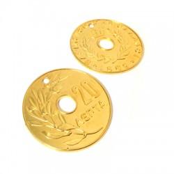 "Pendentif Monnaie ""20"" en Métal/Zamak, 65mm"
