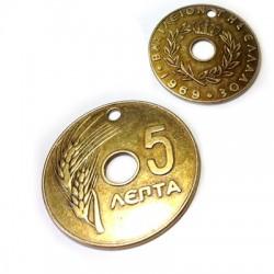 "Mεταλλικό Ζάμακ Χυτό Στοιχείο Νόμισμα ""5"" 65mm"