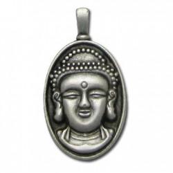 Zamak Charm Frame Buddha Head 15x29mm