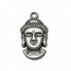 Zamak Charm Buddha Head 15x29mm