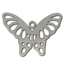 Pendentif Papillon en Métal/Zamac, 41x29mm