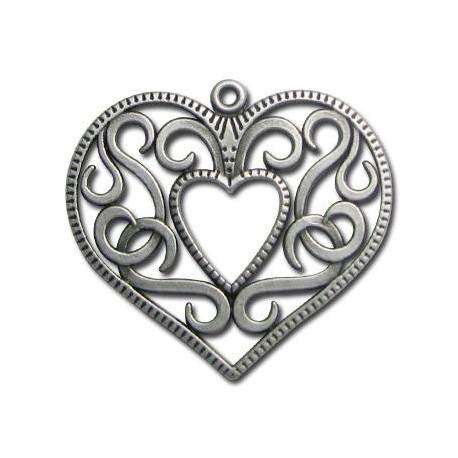 Zamak Pendant Heart Arabic 50mm