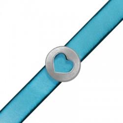 Zamak Slider Round Heart 18mm (Ø 10.2x2.2mm)