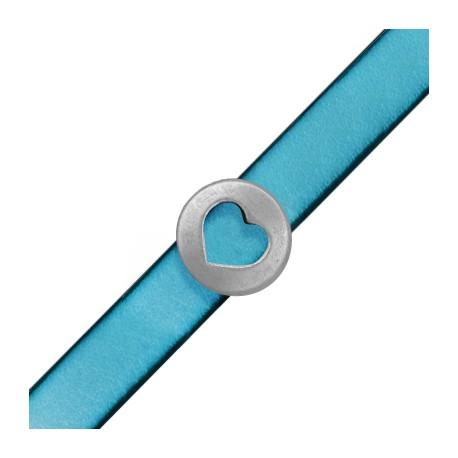Μεταλλική Ζάμακ Χυτή Χάντρα Πλακέ Καρδιά 18mm (Ø10.2x2.2mm)